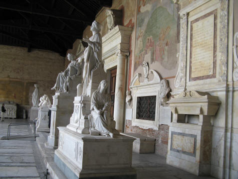 Tombs of Camposanto Monumentale in Venice